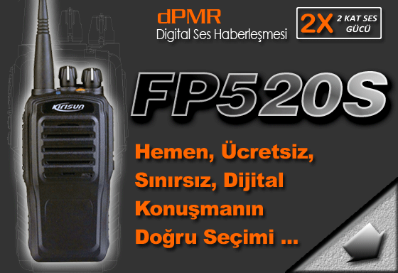 FP520S Dijital Lisanssız El Telsizi