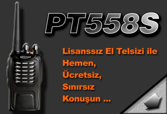 PT558S Lisanssız El Telsizi